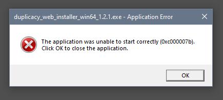 2020-03-30 23_42_37-duplicacy_web_installer_win64_1.2.1.exe - Application Error